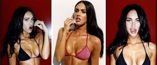 Americká krása. Sexy Megan Fox v bikinách