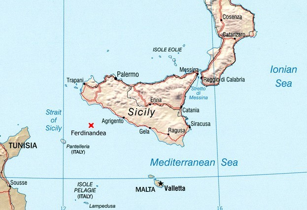 Umístění ostrova
