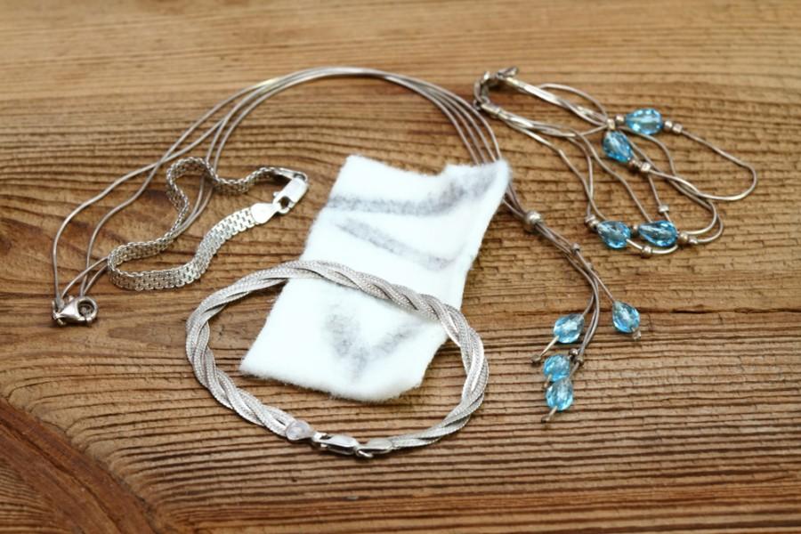 Hadřík na čištění stříbrných šperků