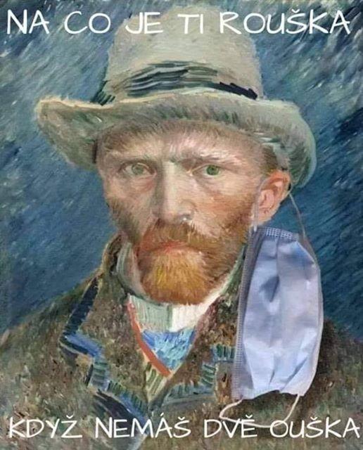 Vincent van Gogh s rouškou