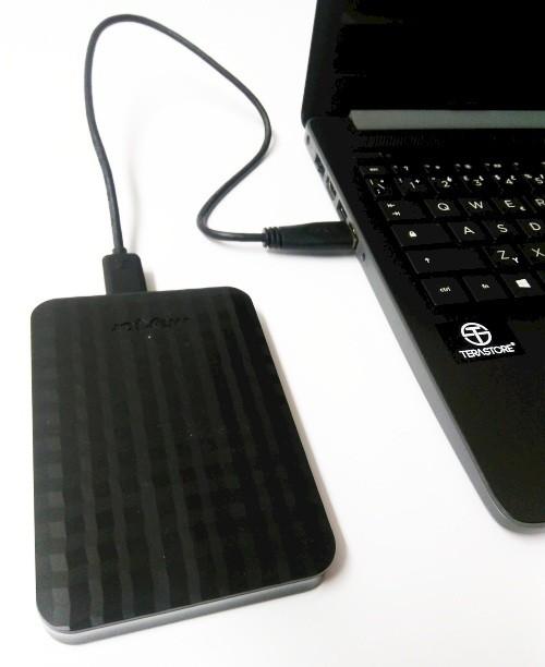 Externí disk připojený k notebooku prostřednictvím USB 3.0