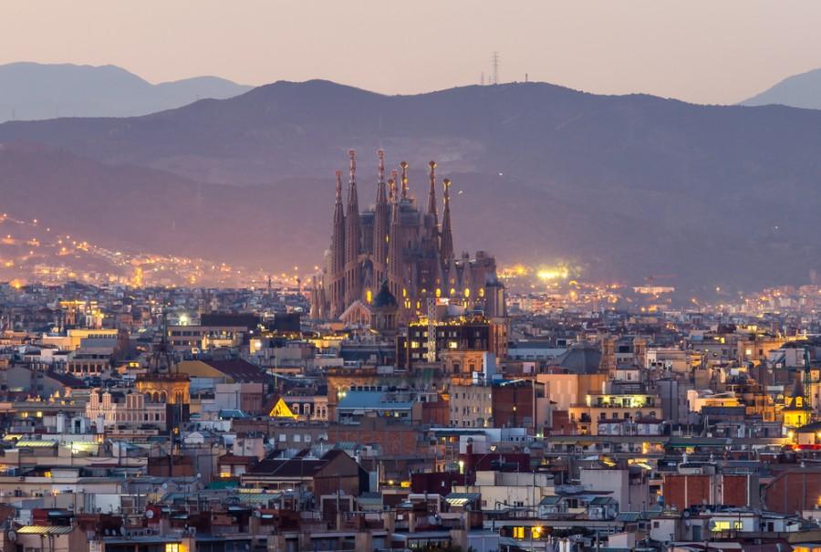Noční Barcelona