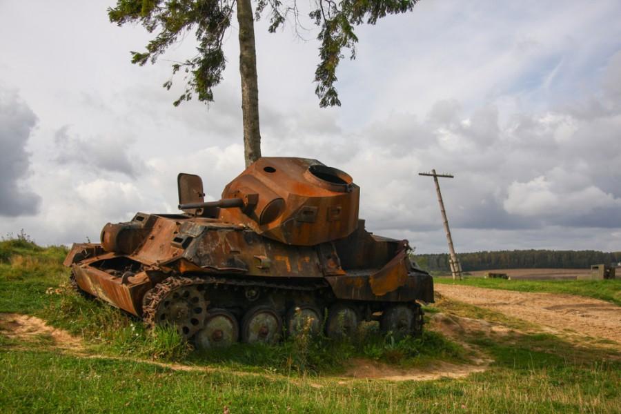 Zničený tank z Druhé světové války