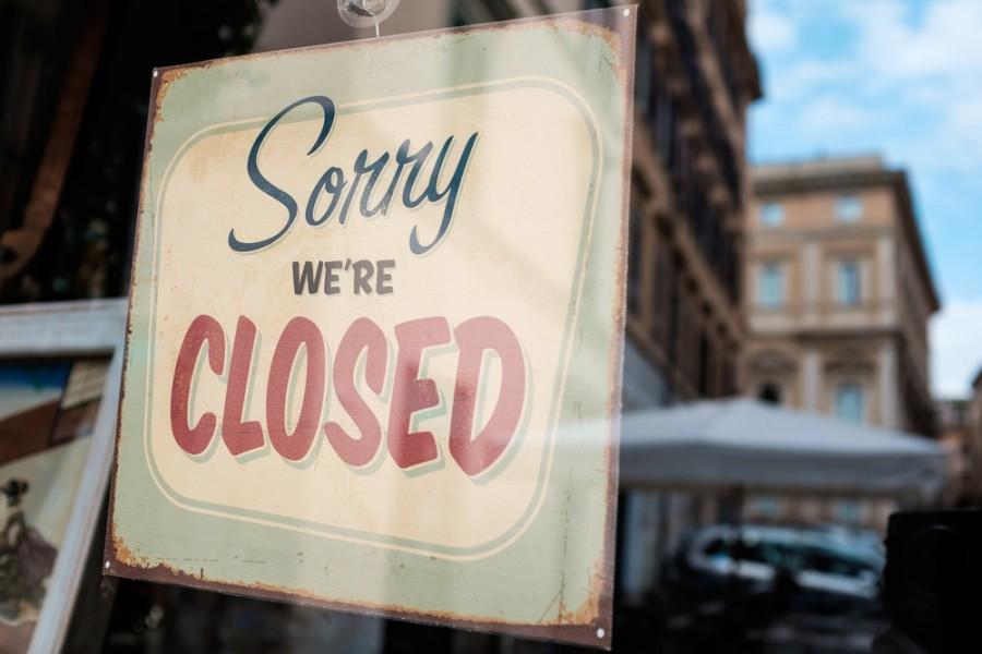 Zavřené obchody v Anglii