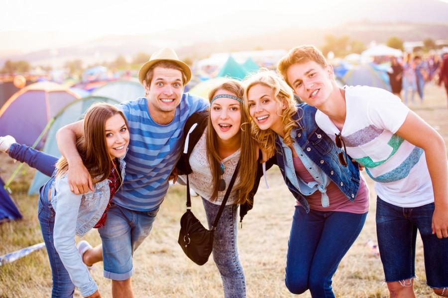 Zábava na festivalu