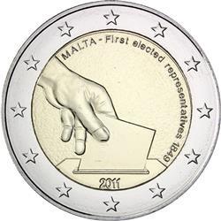 Maltské dvoueuro - zdroj: fleur-de-coin.com