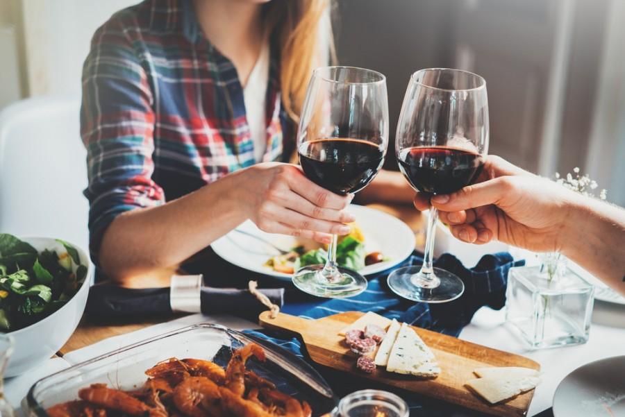 Domácí pohoda u vína