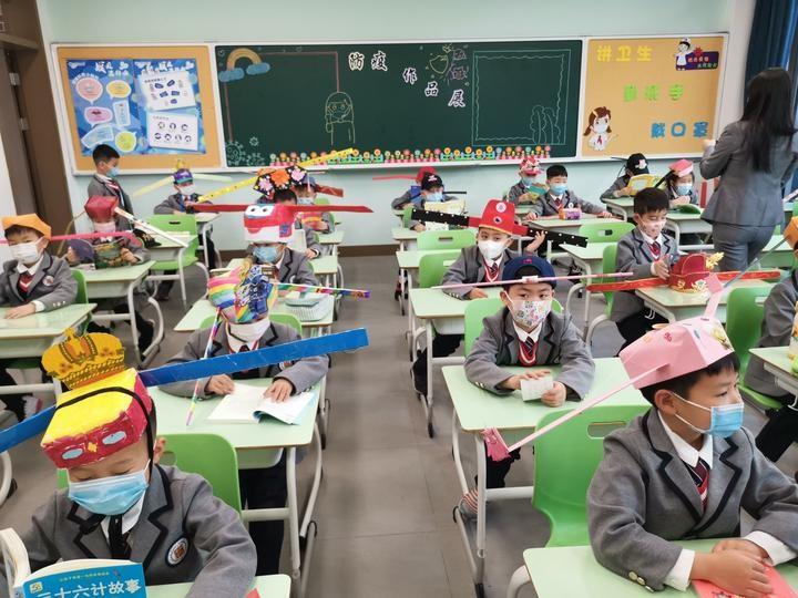 Čínští žáci ve škole