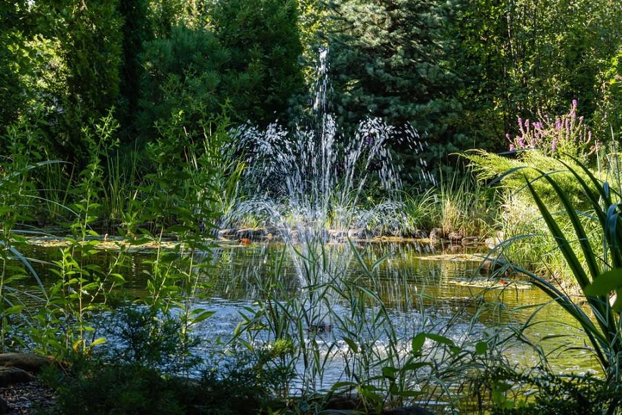 Jezírko s fontánkou