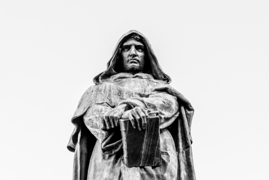 Socha Giordana Bruna v Římě
